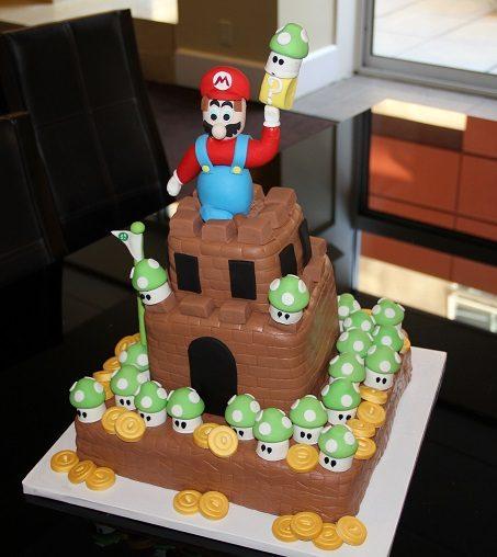 mario cake overall