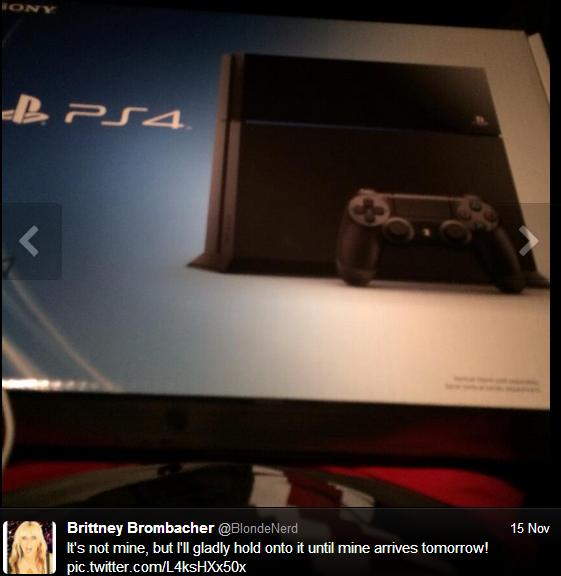 PS4 tweet