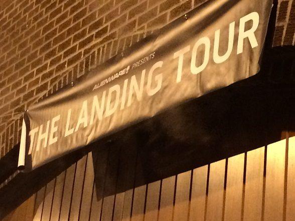 the landing tour banner